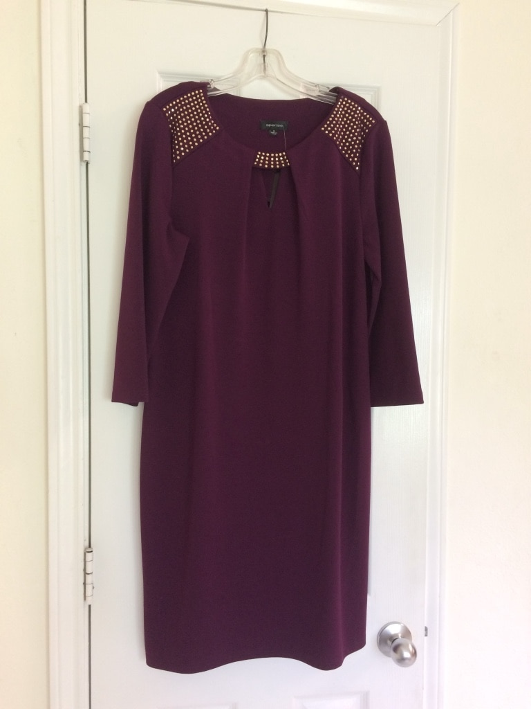 Photo NEW WITH TAGS PURPLE VIOLET DRESS SIZE 12
