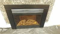 black wooden electric fireplace Surrey, V3V 7C3