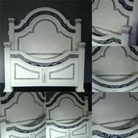 white and black wooden headboard Bakersfield, 93313