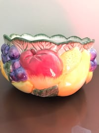 Yellow and pink floral ceramic bowl Vincent, 45784