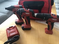 Black and red hilti cordless power drill Toronto, M3N 2S3