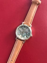 Watch with world map