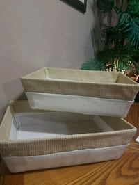 Set of two mesh cotton polyester woven baskets Youngstown, 44515