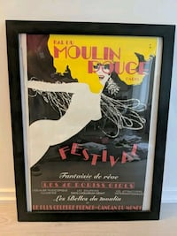 Collectible framed Moulin Rouge Poster