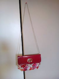 red and white floral leather crossbody bag Edmonton, T6K
