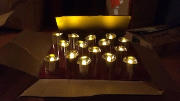 Silver LED flameless votive candles