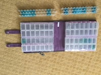 two blue and purple plastic cases null, T8E