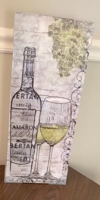 Wine Glass Canvas Wall Art  Centreville, 20121
