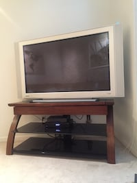 black glass top TV stand Tampa
