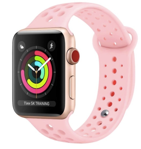 9788e741126 Brand New Seal in Bag Apple Watch Band 38mm Breathable Soft Silicone Sport Strap  Replacement Wristband