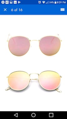 New pink mirror gold framed aviator sunglasses