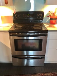 Stainless steel and black range oven Vancouver, V5N 2C1