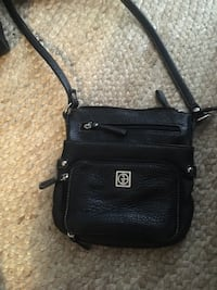 Black small leather cross bag  Alexandria, 22306