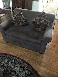 Suede leather love seat cum sleep Sofa 28 km