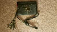 black and brown leather crossbody bag Kissimmee