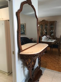 Mirror with marble and wood Laval