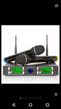 Wirless mic phone set