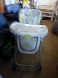 baby's white and gray high chair Surrey, V4A 9G9