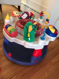 baby's multi-color activity saucer