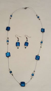NEW Wire beaded necklace and pierced earring set. Lake Stevens, 98258