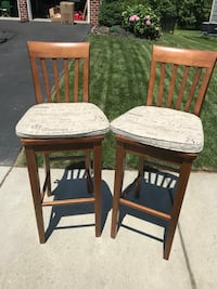 two brown wooden bar stools Perry Hall, 21128
