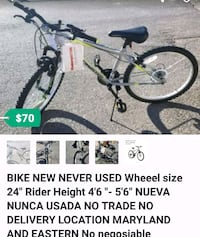 "24"" bike New Never used Nueva price firm  Las Vegas, 89101"