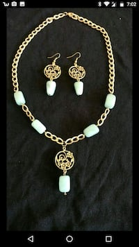 Light Green Real Gemstone Set Los Angeles, 91316