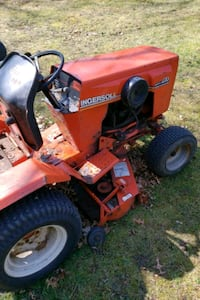 Case tractor with deck and snowblower attachment