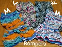 Rompers sizes on pic next to item  Ankeny, 50023