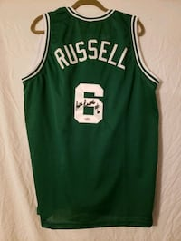 BILL RUSSELL SIGNED JERSEY
