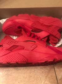 Red Huarache Size 9.5 Only Been Worn Ounce 2344 mi