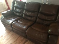 black leather 3-seat recliner sofa Dumfries, 22025