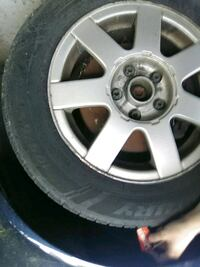 gray 5-spoke car wheel with tire Clearfield, 84015