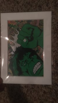 Incredible Hulk poster with white frame