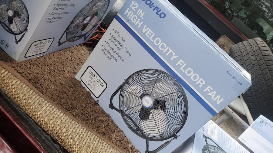 12 in small high velocity metal fans 1