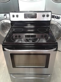 black and gray induction range oven null