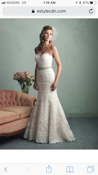 Allure bridal lace wedding gown style 9157 Toronto, M3J 4N5