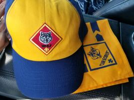 Scouts wolf hat and handkerchief