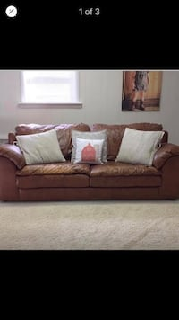 Leather couch -Sealy