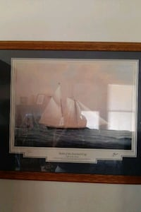yachts of the America cup. framed signed prints Wilmington, 19808