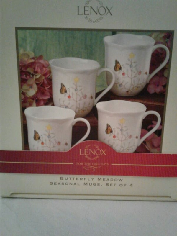 Lennox Butterfly Meadow set of 4 mugs 99477b15-be98-42f6-85e0-5cbc2619ec43