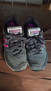 Pair of black-and-pink skechers running shoes Houston, 77007