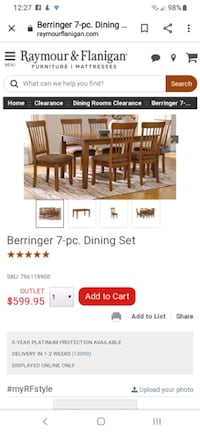7 piece dining set Liverpool, 13090