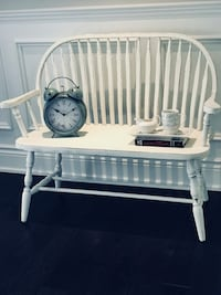 Shabby Chic Cottage Farmhouse Oak Hall Entryway Deacons Bench Oakville, L6L 5X6