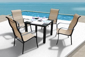 Lizy 5 Pc Dining Set - Beige