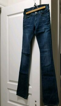 blue-washed whiskered jeans