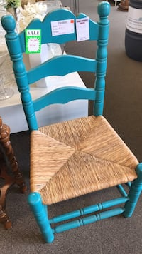 blue and white striped padded chair Surrey, V4A 2J5