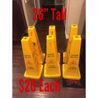 """26"""" tall 4-Sided Caution Safety Cone Fort Worth, 76133"""