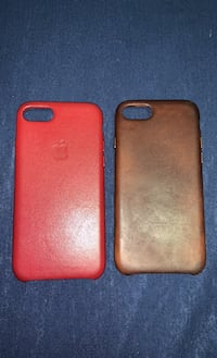 Red and Brown Leather Iphone 8 Case Toronto, M8V 3X5