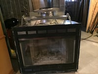 black and gray electric fireplace Magnetawan, P0A
